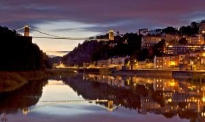 Clifton Bridge at dusk